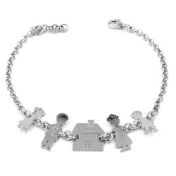 Solid Silver My Family Bracelet