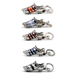 Solid Silver Enamelled Football Shoe Pendant
