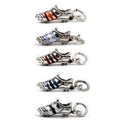 Solid Silver Enamelled Football Shoe Pendant