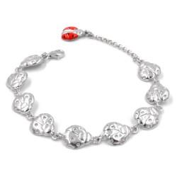 925 Sterling Silver Ladybugs Bracelet