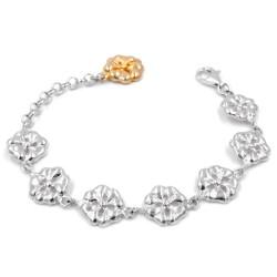 925 Sterling Silver Bracelet With Shamrocks