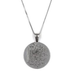 Collana con Medaglia Padre Nostro in Argento 925