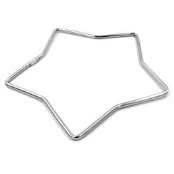 Star Shaped 925 Sterling Silver Bangle Bracelet
