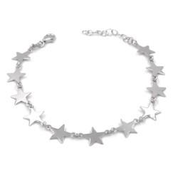 925 Sterling Silver Stars Chain Bracelet