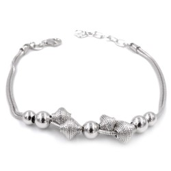 925 Sterling Silver Bracelet with Spirals made of Silver Thread