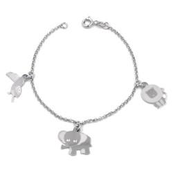 925 Sterling Silver Animals Bracelet