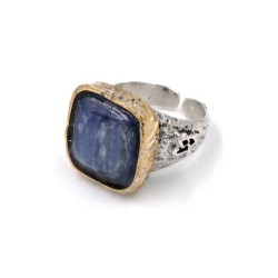 925 Sterling Silver Ring with Kyanite Natural Stone