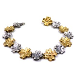 925 Sterling Silver Flowers Bracelet