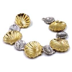 925 Sterling Silver Shells Bracelet