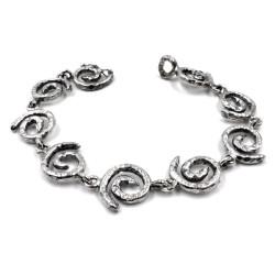 925 Sterling Silver Spiral Bracelet