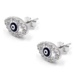 925 Sterling Silver Allah's Eye Earrings