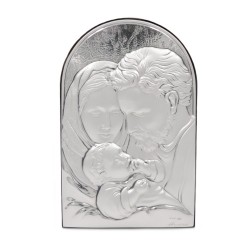 925 Sterling Silver Holy Family 3,74'' x 5,90''