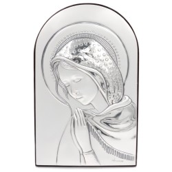 925 Sterling Silver Praying Virgin 4,9'' x 7,6''