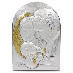 925 Sterling Silver Holy Family Gold 6,88'' x 9,84''