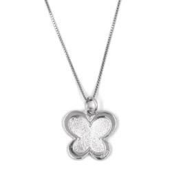 Collana in Argento 925 con ciondolo farfalla sagomata