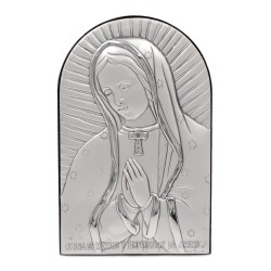 925 Sterling Silver Virgin of Guadalupe 3,74'' x 5,90''