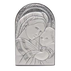 925 Sterling Silver Madonna della Seggiola 3,74'' x 5,90''