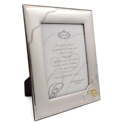 50th Anniversary Satin 925 Sterling Silver Photo Frame 7 x 9