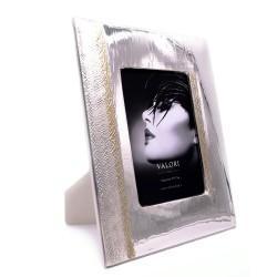 Ashlie Gold Cornice Portafoto in Argento Massiccio 925 cm 13 x 18