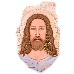 Gesù Quadro in Ceramica con Decorazioni Colorate cm 29x45