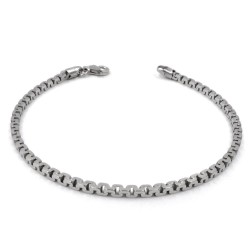 925 Sterling Silver Square Chain Bracelet