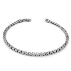 925 Sterling Silver Square Chain Bracelet