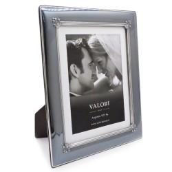 925 Sterling Silver Photo Frame 7 x 9 Vision Black Model Mahogany Back