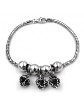 Sterling Silver Snowflakes Bracelet