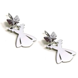 925 Sterling Silver Princess Dress Earrings