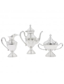 Solid Silver Coffee Set of 3 Pieces English Style