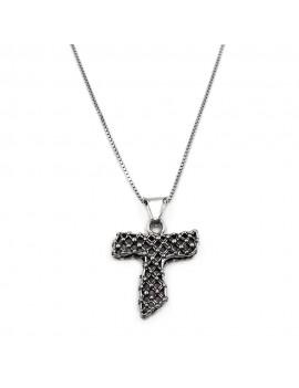 Tau Cross Pendant Necklace