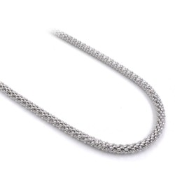 925 Sterling Silver Popcorn Chain Necklace