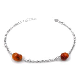 925 Sterling Silver Bracelet with Amber