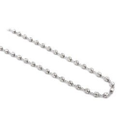 925 Sterling Silver Nuggets Necklace