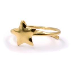 Anello Stella in Argento Placcato Oro Giallo