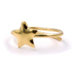 Gold Plated Solid Silver Star Ring