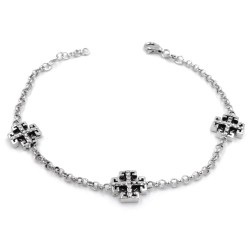 925 Sterling Silver Celtic Cross Bracelet