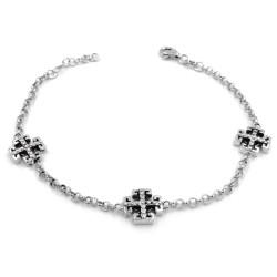 925 Sterling Silver Celtic Cross Bracelet