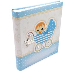 Buggy Light Blue Baby Photo Album 8 x 10