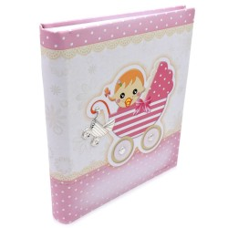 Buggy Pink Baby Photo Album 8 x 10