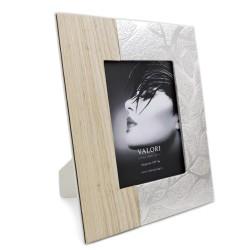 Cornice Portafoto Twin Wood cm 15x20 in Legno e Argento 925