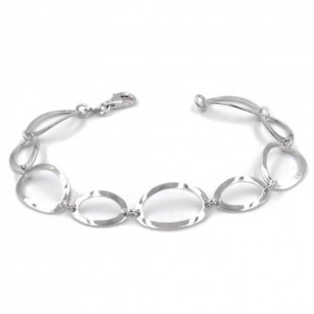 925 Sterling Silver Ovals Bracelet