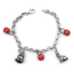 925 Sterling Silver Cats Bracelet