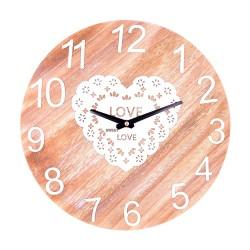 Orologio da Parete Cuoricini Love in Legno Decorato