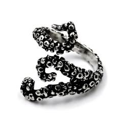 Solid Silver Tentacles Ring