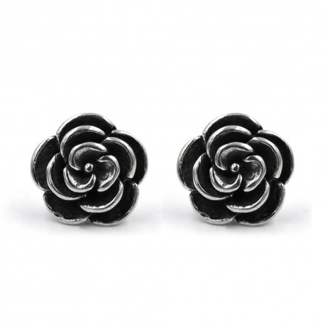 Camellia Earrings 925 Sterling Silver