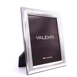 Cornice Portafoto Lucida Martellata Valenti cm 20x25 in Argento
