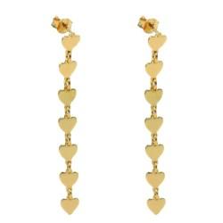 925 Sterling Silver Seven Hearts Pendant Earrings