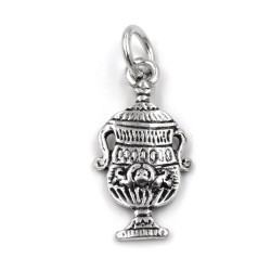Ace of Cups Solid Silver Pendant