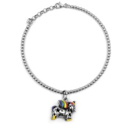 Unicorn Bracelet 925 Sterling Silver